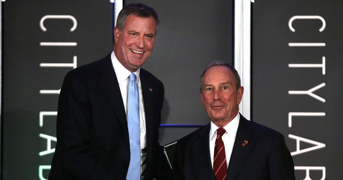 Failed Candidate De Blasio Slams Bloomberg Bid