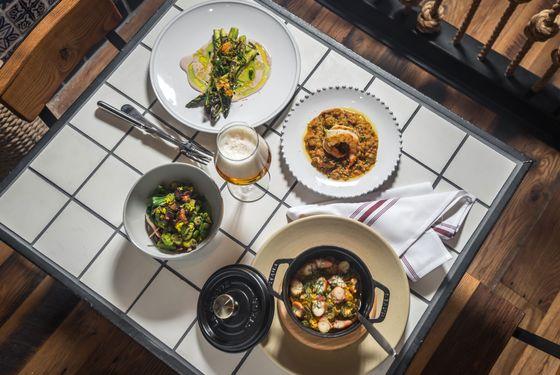 Tapas-style dining.