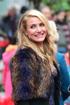 "Actress Cameron Diaz is seen on the set of "" Anna"" on December 2, 2013 in New York City."