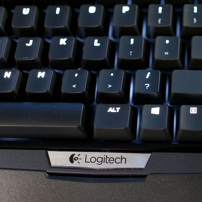 A Logitech G710 keyboard is seen on display at their booth during the TigerDirect Tech Bash at the Miami Marlins Park on November 7, 2014 in Miami, Florida. The event gave people the chance to have a hands on experience with some of the latest technology in portable computing devices, gaming rigs, consumer electronics, home theater, networking and other products. (Photo by Joe Raedle/Getty Images)