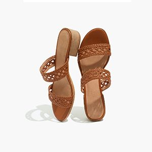 Basketweave Slide Sandals