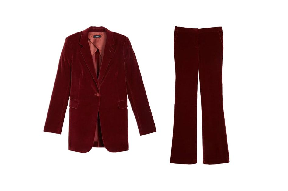 Theory Stretch Velvet Blazer