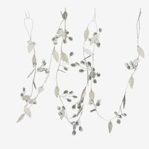 At Home Silver Leaves Garland