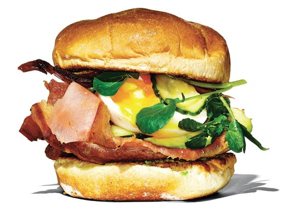 Rise & Swine's Asian bacon sandwich.