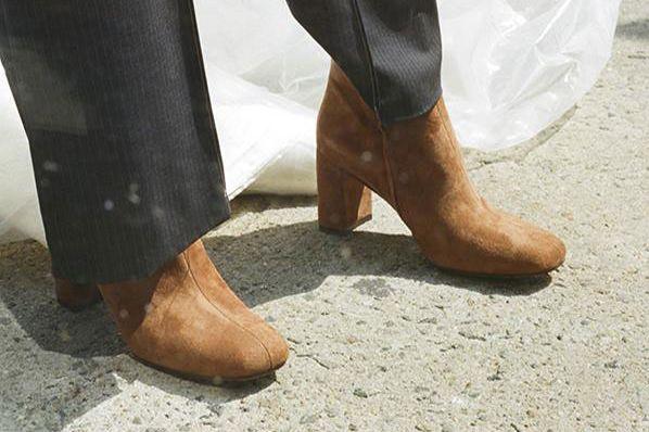Maryam Nassir Zadeh Agnes Split Toe Boot in Walnut