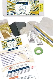 Kintsugi Repair Kit for Pro with Genuine Gold Powder