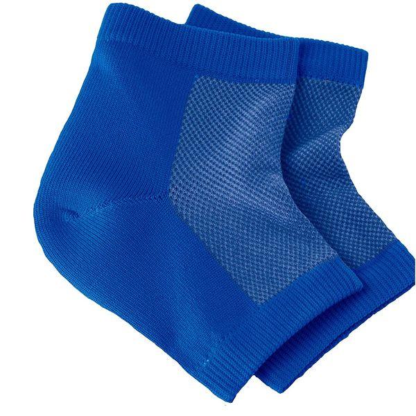 NatraCure Vented Moisturizing Gel Heel Sleeves, Pack of Three