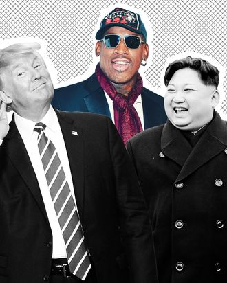 Donald Trump, Dennis Rodman, and Kim Jong Un