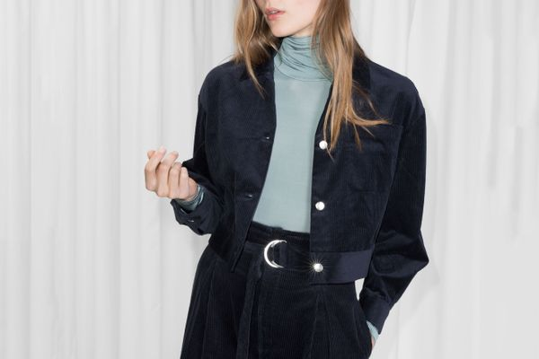 & Other Stories Cropped Corduroy Jacket