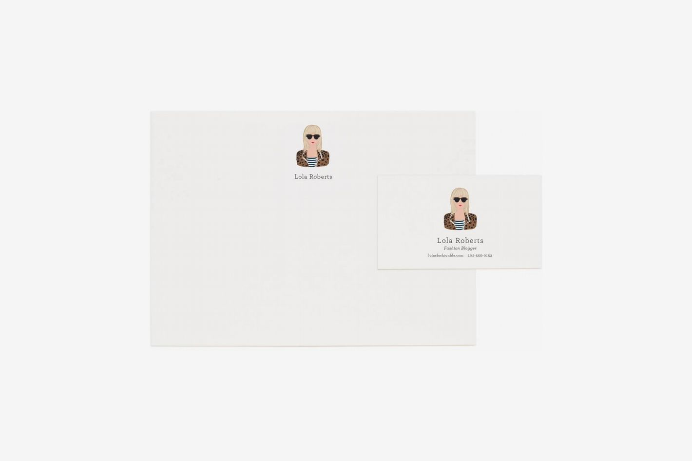 Rifle Paper Co. Custom Portrait Personalized Stationery