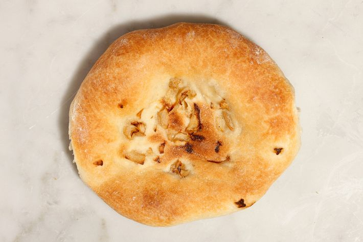 Here's your traditional onion bialy.