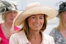 Carole Middleton attends Derby Day at the Investec Derby Festival at Epsom racecourse on June 4, 2011 in Epsom, England.