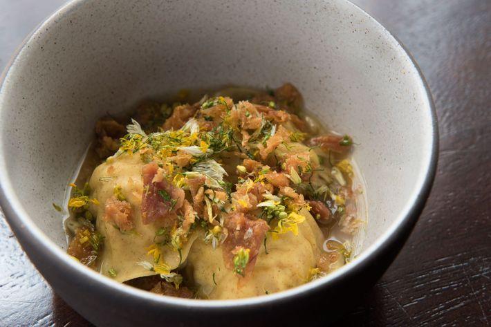 Chicken, rye pasta.