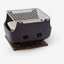 Korin Black Rectangular Charcoal Konro Grill