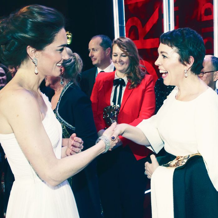 Kate Middleton and Olivia Colman.