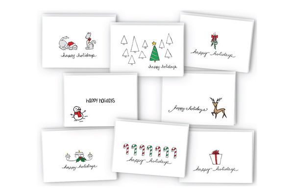 Happy Holidays Greeting Card / Gift Tag Collection