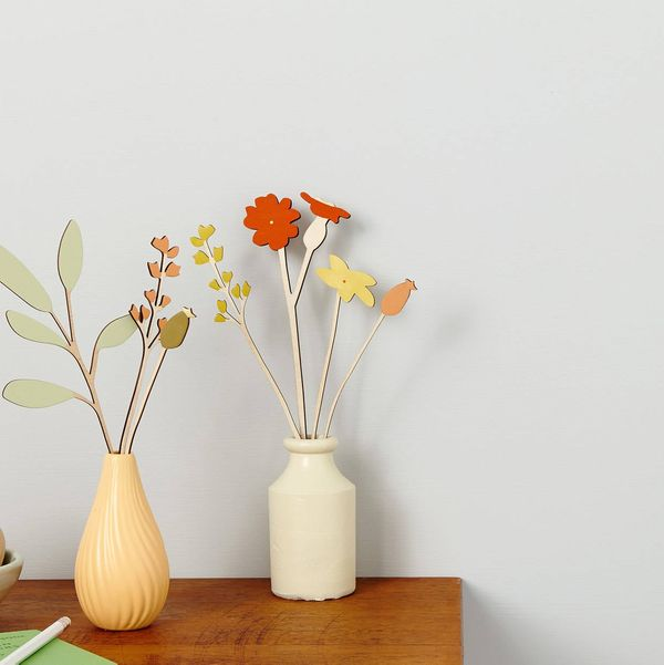 Individual Wooden Flowers