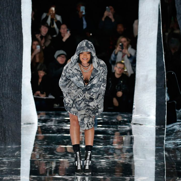 0bd8932997dd Rihanna Wants Us to Dress Like We re Going to Postapocalyptic Equinox. By  Véronique Hyland. Take a bow