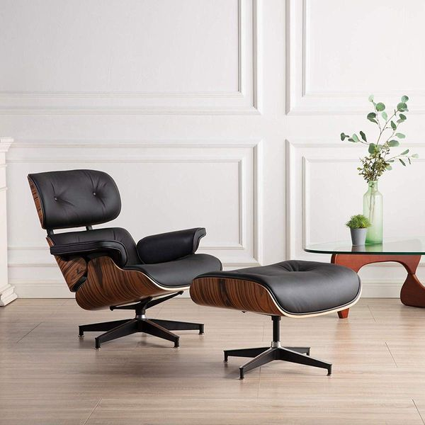 Rimdoc Mid Century Lounge Chair with Ottoman