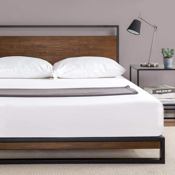 19 Best Metal Bed Frames 2020 The, Heavy Duty Queen Bed Frame With Headboard