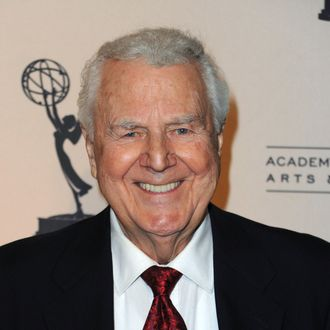 Actor Don Pardo arrives at the Academy Of Televison Arts & Sciences' 19th Annual Hall Of Fame Induction at the Beverly Hills Hotel on January 20, 2010 in Beverly Hills, California.