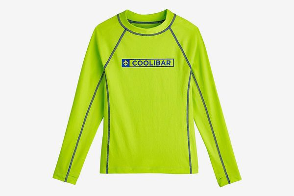 Coolibar UPF 50+ Boy's Logo Surf Rash Guard