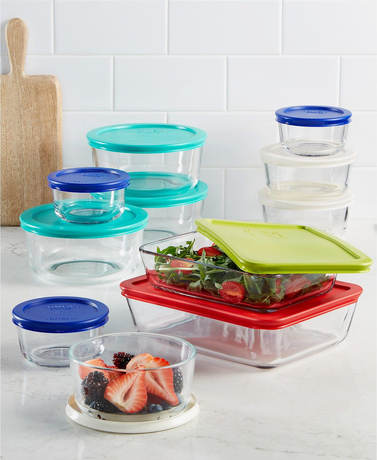 Pyrex 22-Piece Food Storage Container Set