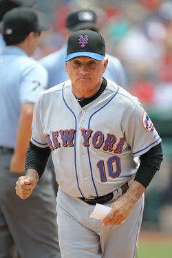 ARLINGTON, TX - JUNE 25:  Manager Terry Collins #10 the New York Mets at Rangers Ballpark in Arlington on June 25, 2011 in Arlington, Texas.  (Photo by Ronald Martinez/Getty Images)