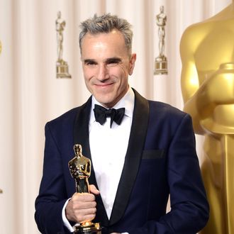 Actor Daniel Day-Lewis, winner of the Best Actor award for
