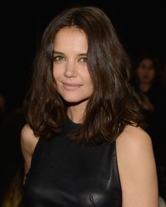 NEW YORK, NY - FEBRUARY 10: Katie Holmes attends the Donna Karan New York 30th Anniversary fashion show during Mercedes-Benz Fashion Week Fall 2014 on February 10, 2014 in New York City. (Photo by Larry Busacca/Getty Images for Mercedes-Benz Fashion Week)
