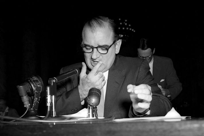 McCarthy Testifying at a Hearing