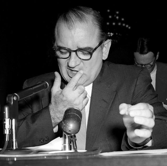 McCarthy Testifying at a Hearing