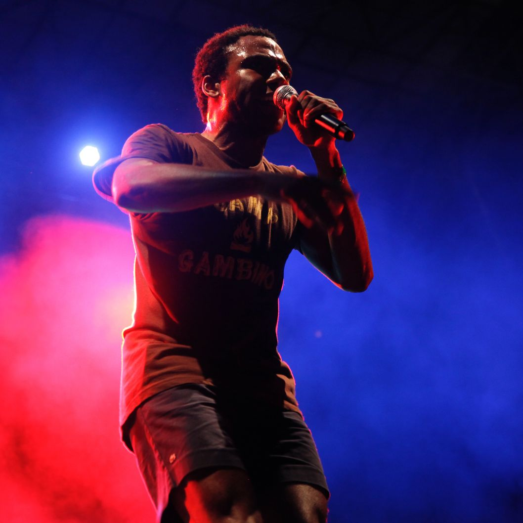 NEW YORK, NY - SEPTEMBER 03:  Childish Gambino performs at the 8th Annual Rock The Bells festival on Governor's Island on September 3, 2011 in New York City.  (Photo by Anna Webber/FilmMagic)