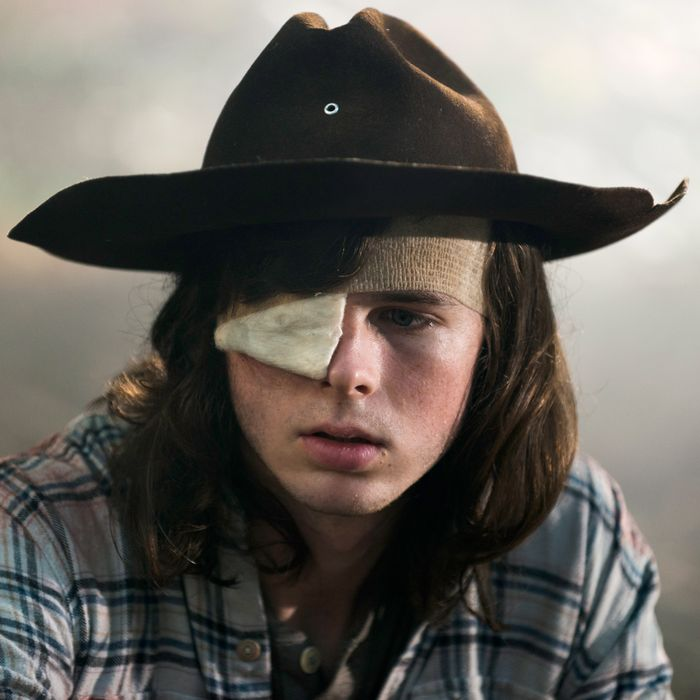 Image result for carl the walking dead