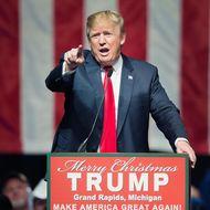 Donald Trump Campaigns In Grand Rapids