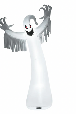 Costway 12-Foot Halloween Inflatable Blow-Up Ghost With LED Lights Outdoor Yard Decoration