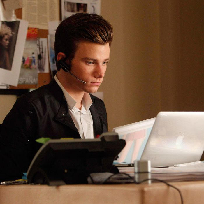 GLEE: Kurt (Chris Colfer) is an intern at the Vogue.com offices in the