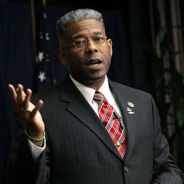 U.S. Rep. Allen West (R-FL) speaks during a Tea Party Town Hall meeting