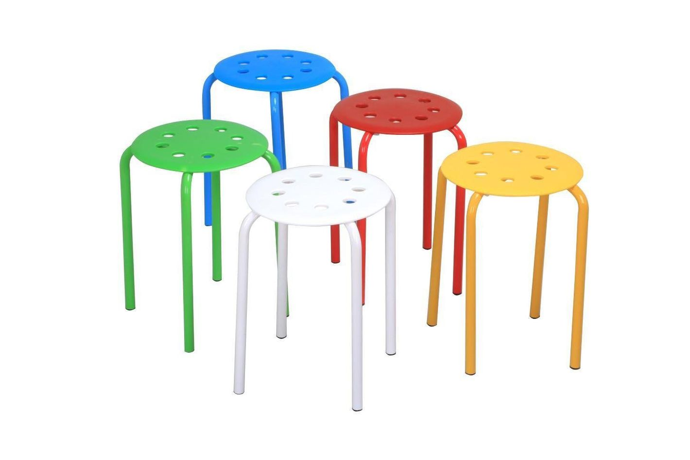 5 Color Portable Plastic Stackable Stools