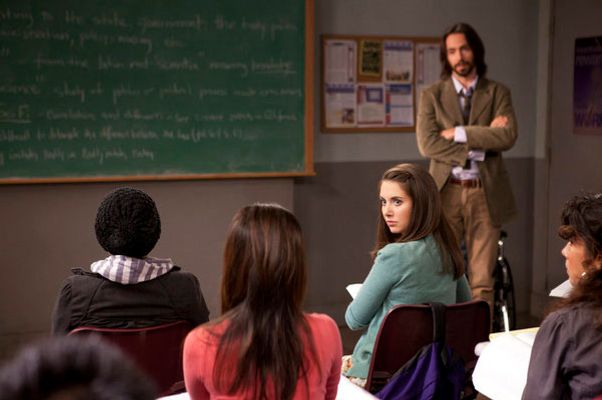 "COMMUNITY -- ""Geography of Global Conflict"" Episode 302 -- Pictured: (l-r) Alison Brie as Annie, Martin Starr as Professor Cligoris -- Photo by: Adam Rose/NBC"