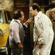 "TAXI -  ""Latka's Cookies"" which aired on February 05, 1981. (Photo by ABC Photo Archives/ABC via Getty Images) DANNY DEVITO; ANDY KAUFMAN"