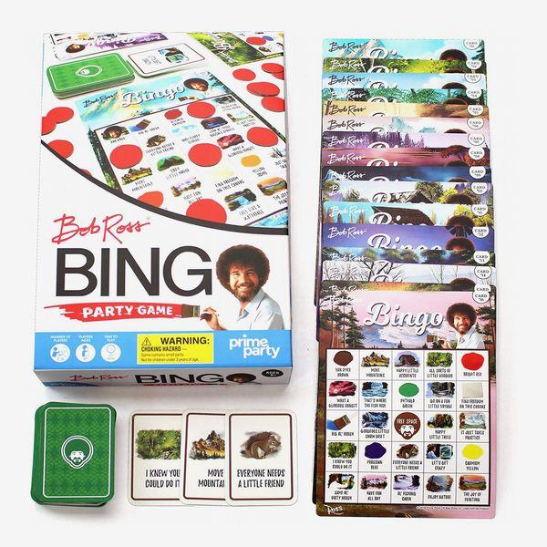 Bob Ross Bingo Game | Bingo Set for Up to 16 Players