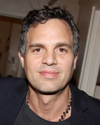 Mark Ruffalo poses backstage at