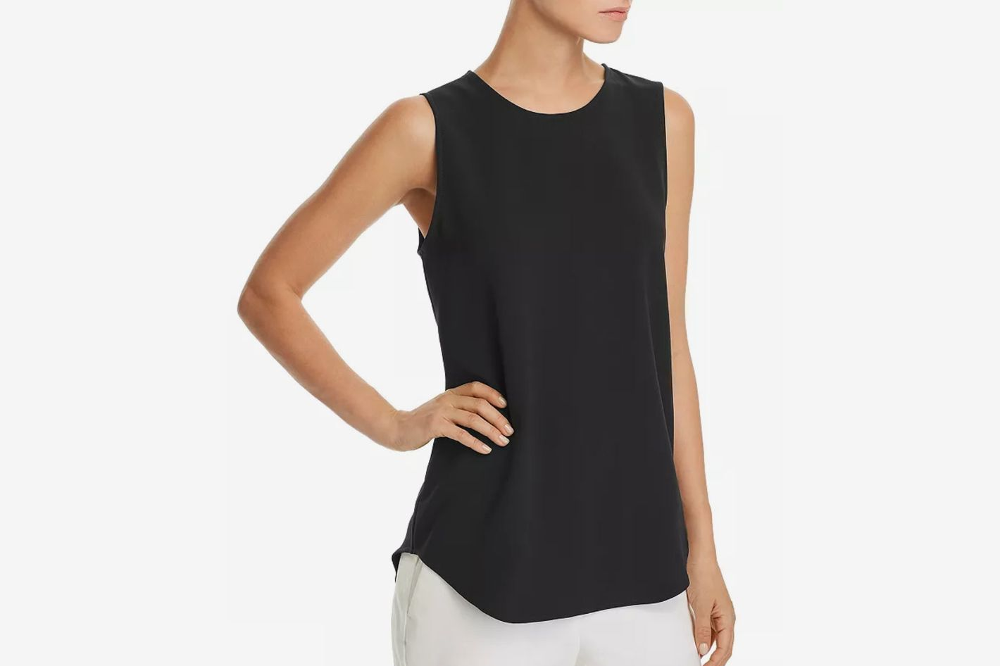Theory Bringam Crepe Top