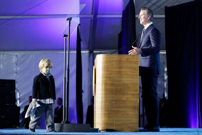 Gavin Newsom's son Dutch.