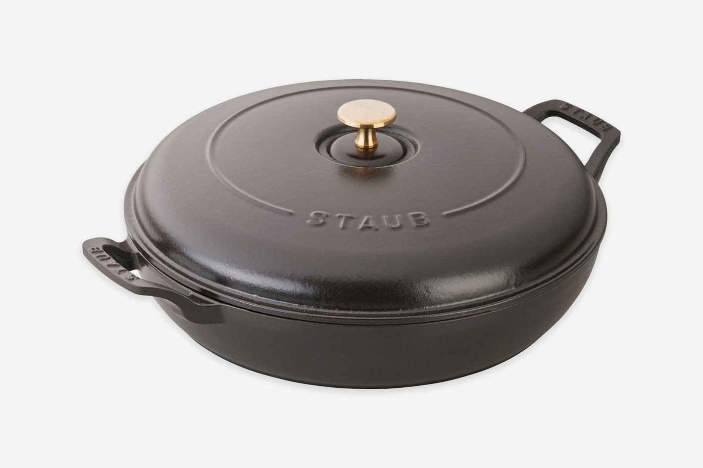 Staub 3.5 qt. Cast Iron Braiser in Matte Black