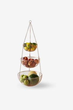 Williams Sonoma Copper Hanging Wire Fruit Basket, Tiered