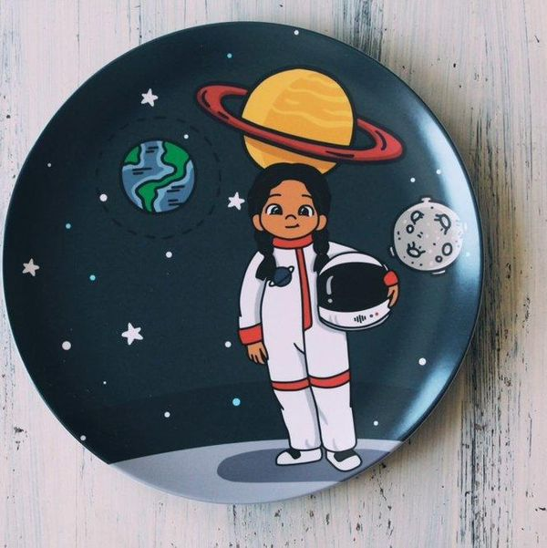Colorfull Plates Shaula Astronaut Plate