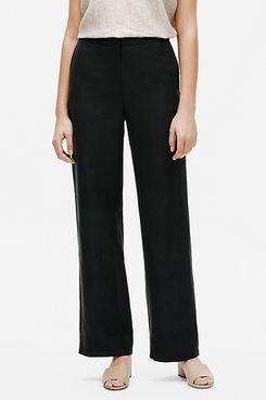 Eileen Fisher Tencel & Organic Linen Slub Straight Pant
