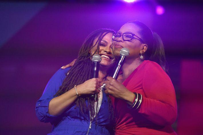 Oprah Winfrey and Ava DuVernay.